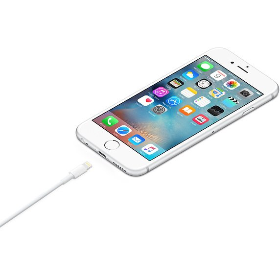 Apple MQUE2ZM - 1 m - Lightning - USB A - Bianco - Dritto - Dritto