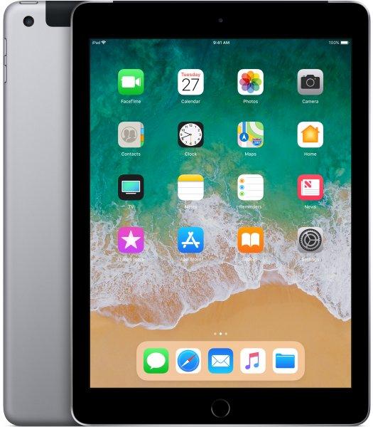 """Apple iPad 2018 9,7 128GB 4G Space grey Cellular 128 GB Grigio - 9,7"""" Tavoletta - A10 2,4 GHz 24,6cm"""