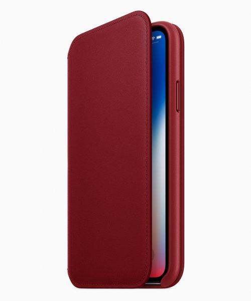 "Apple MRQD2ZM/A - Custodia a libro - Apple - iPhone X - 14,7 cm (5.8"") - Rosso"